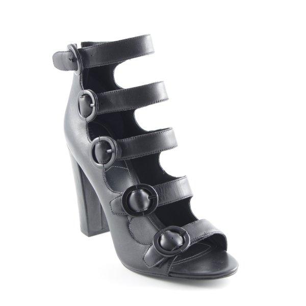 Kendall + Kylie High Heel Sandaletten schwarz Biker-Look