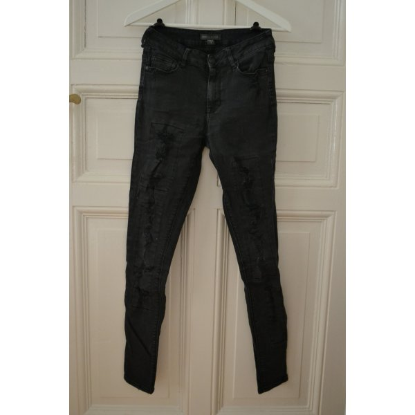 KENDALL & KYLIE High Rise High Waist Jeans Used Look