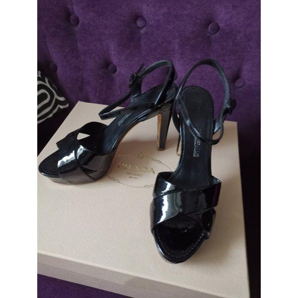 Kennel & Schmenger lack pumps Sandalen peep high heels 37,5