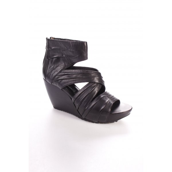 Kennel + schmenger Wedges Sandaletten schwarz Street-Fashion-Look