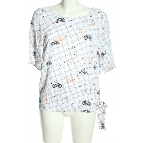 Kenny S. Schlupf-Bluse Allover-Druck Casual-Look