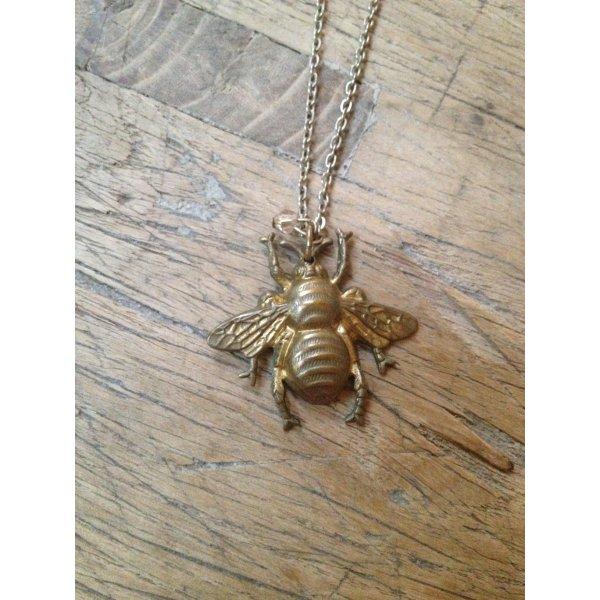 Kette Halskette Gold Vintage Biene