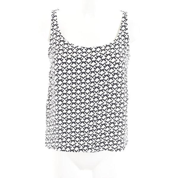 Kilian kerner ärmellose Bluse schwarz-weiß abstraktes Muster Casual-Look