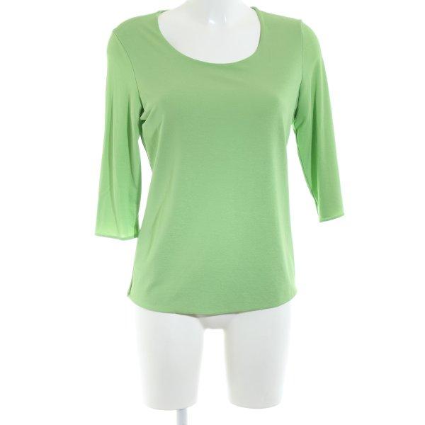 KImmich Trikot Langarm-Bluse grün Casual-Look