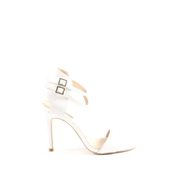 Kiomi High Heel Sandaletten weiß Casual-Look