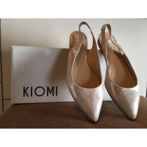 Kiomi Ballerine à bride arrière multicolore cuir