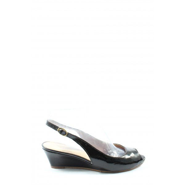 Kiomi Wedges Sandaletten schwarz Business-Look