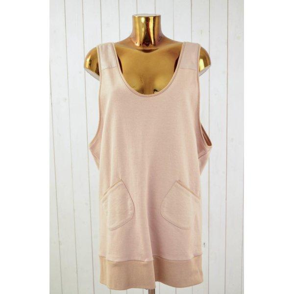 Vestido de tela de sudadera rosa-albaricoque Algodón