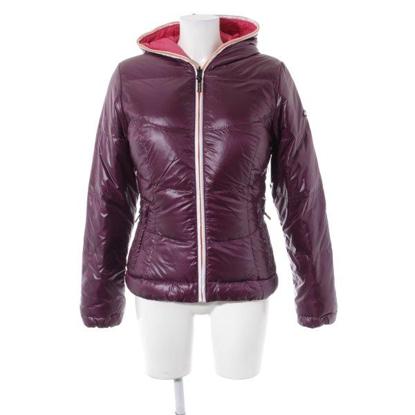 Kjus Daunenjacke pink-braunviolett Steppmuster sportlicher Stil