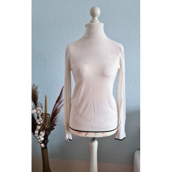 klassischer, weißer Rollkragenpulli von Zara