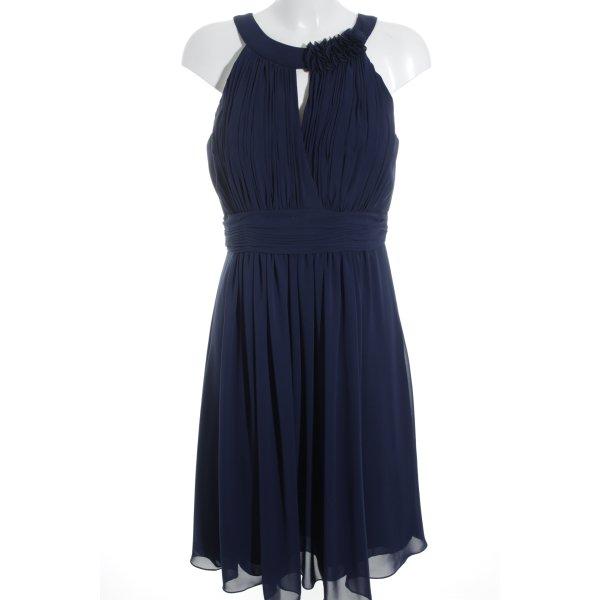 Kleemeier Hof Chiffonkleid dunkelblau Elegant