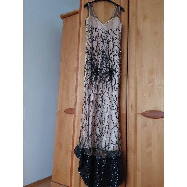 100% Fashion Robe de soirée noir-bronze