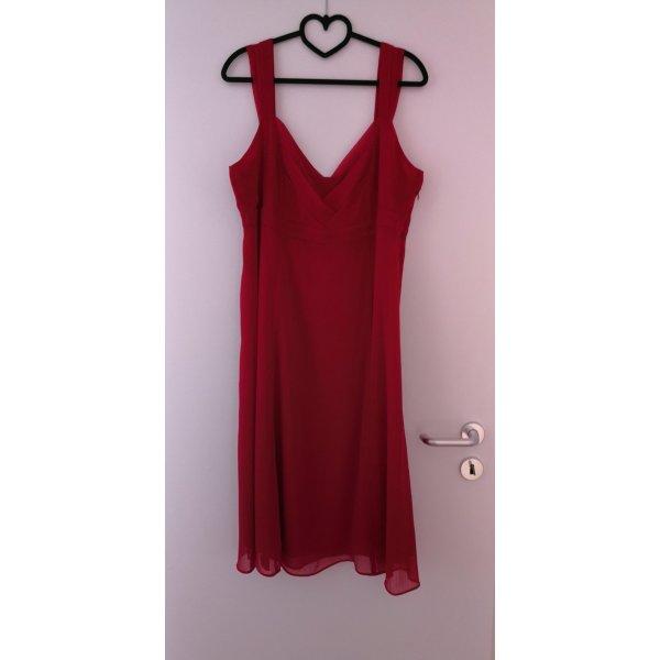 Esprit Chiffon jurk rood