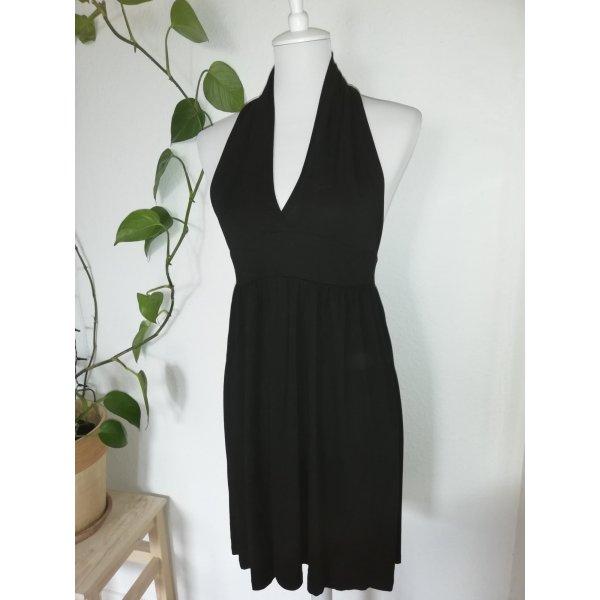 Kleid, schwarz, Neckholder