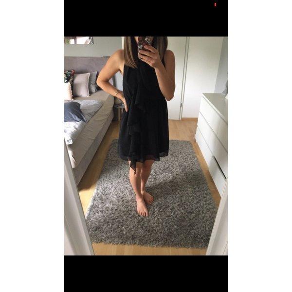 Kleid schwarz Volants H&M 34/36