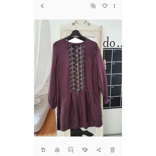 Vestido camisero gris-violeta amarronado