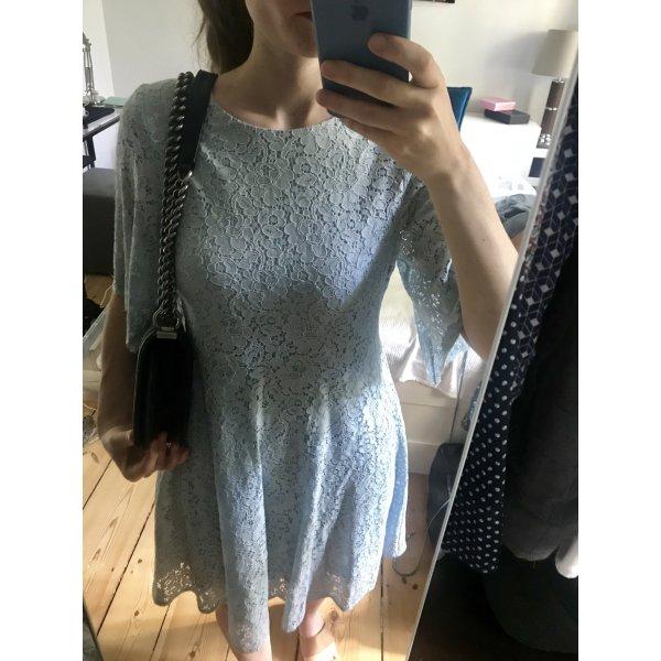 Kleid Spitzenkleid hellblau 34