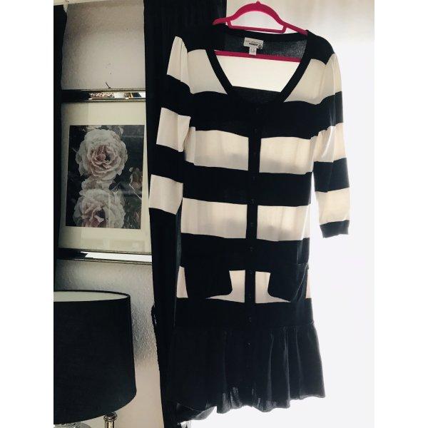 Kleid Streifen schwarz weiss gr. 40