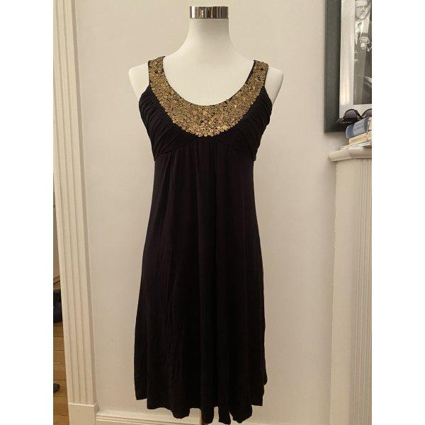 Kleid Topshop super Zustand schwarz Gold armfrei