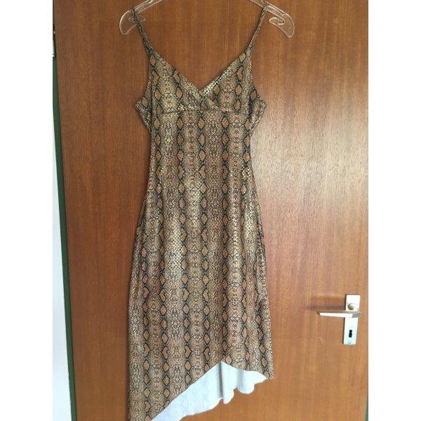 Kleid Trägerkleid sexy asymmetrisch Glitzer Gold Gr. 36