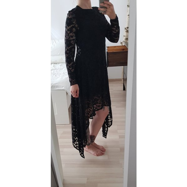 H&M Jurk met langere achterkant zwart