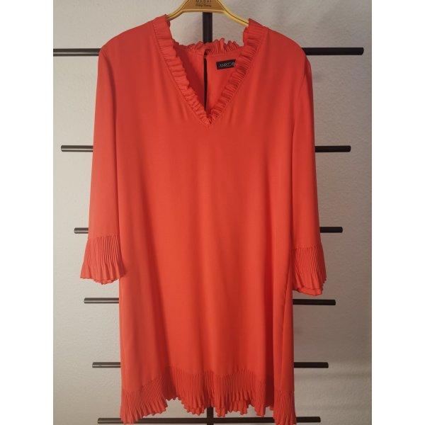 Marc Cain Summer Dress orange-neon orange polyester