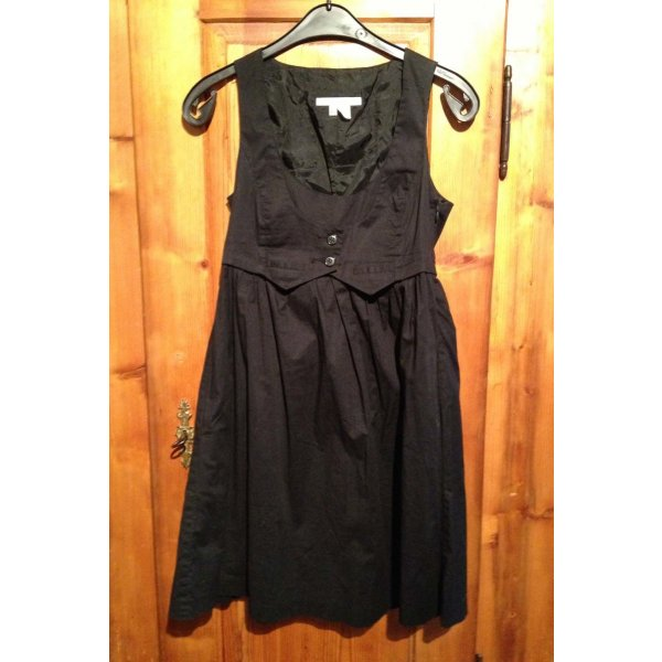 Kleid ZARA schwarz Weste Blusenkleid Business-Kleid 36