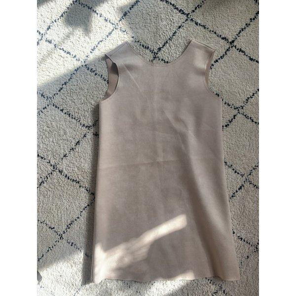 Kleid Zara Velours Leder Optik
