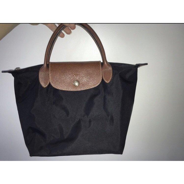 Longchamp Sac à main noir-brun