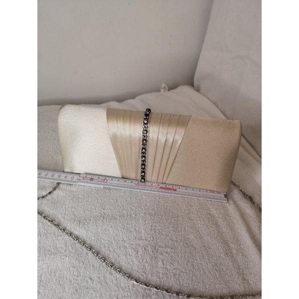 Kleine Tasche pass zum hochzeitskleid, weiß Beige,