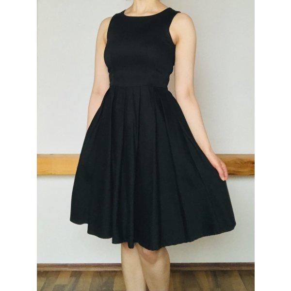 Kleines Schwarzes / Knielanges Schwarzes Kleid 50ies Retro