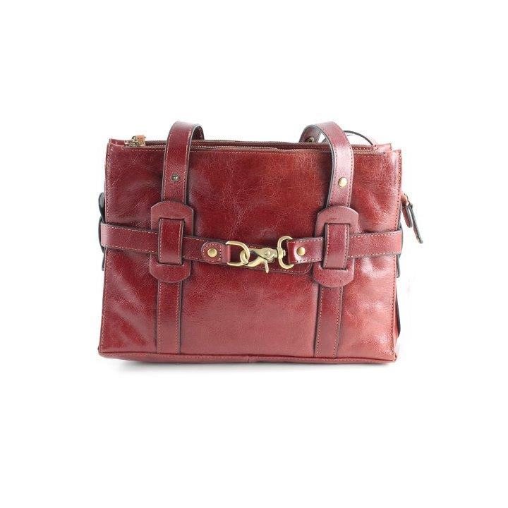 Kling Handtasche dunkelrot Vintage-Look