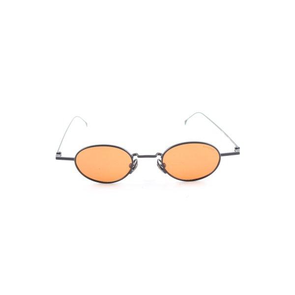 Komono runde Sonnenbrille schwarz-hellorange extravaganter Stil