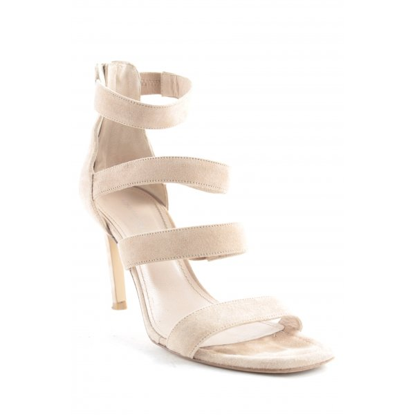 Konstantin Starke High-Heeled Toe-Post Sandals beige simple style
