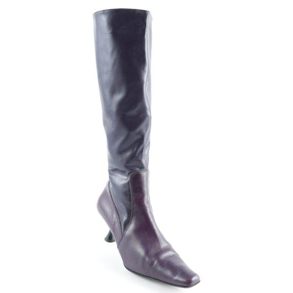 Kookai Botas con tacón violeta oscuro look de cuero