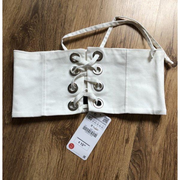 Zara Fabric Belt white
