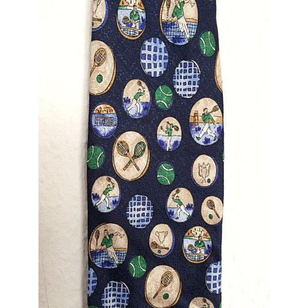 Krawatte Seide Vintage Tennis