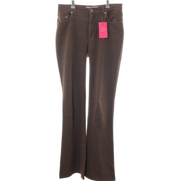Krizia Jeans Boot Cut Jeans bronzefarben Casual-Look