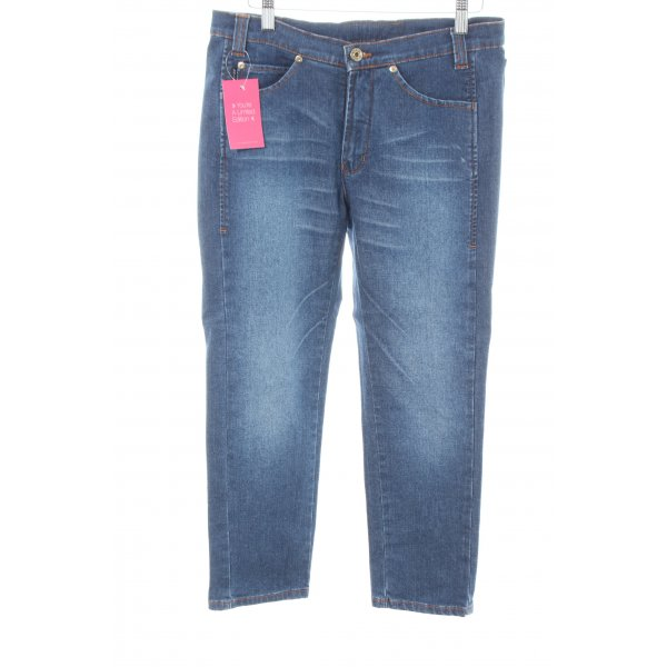 Krizia Jeans High Waist Jeans blau Casual-Look