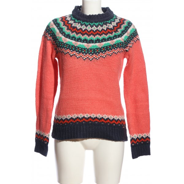 KRS & Co Grobstrickpullover grafisches Muster Casual-Look
