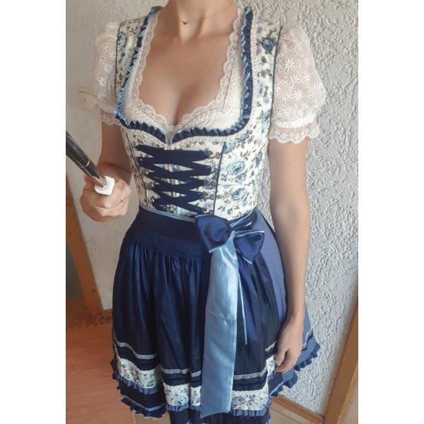 Krüger Mini Dirndl Rosen blau