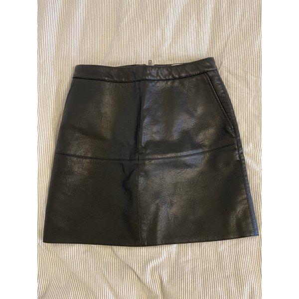 Kunstlederrock mit Reißverschluss Schwarz XS 34 Cotton Club