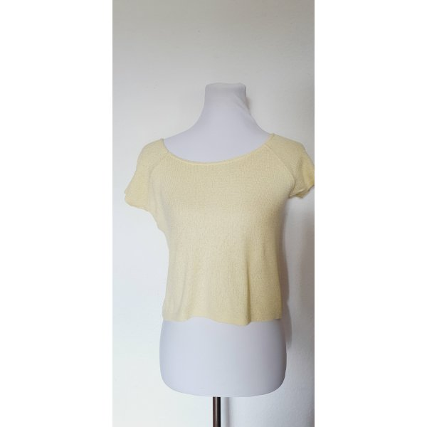 Kurz Shirt More and More gelb Gr 40 Cropped