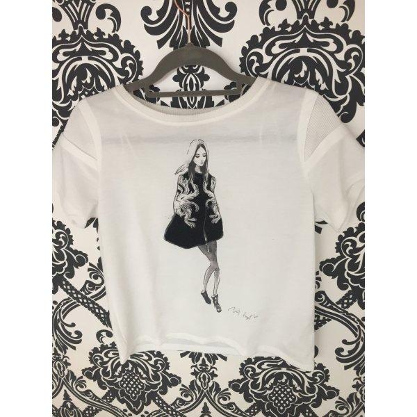 Zara Camicia fantasia nero-bianco
