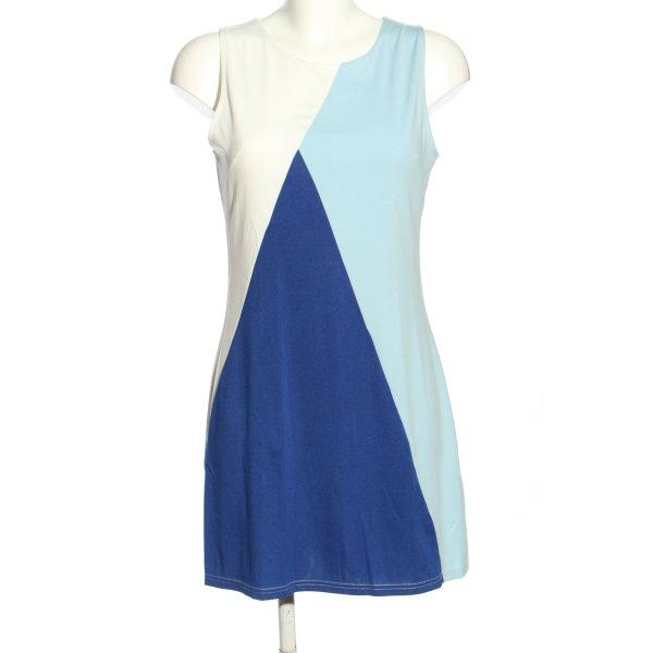 L.B.C A-Linien Kleid weiß-blau Casual-Look