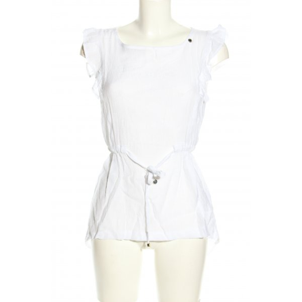 La Rinascimento ärmellose Bluse weiß Casual-Look