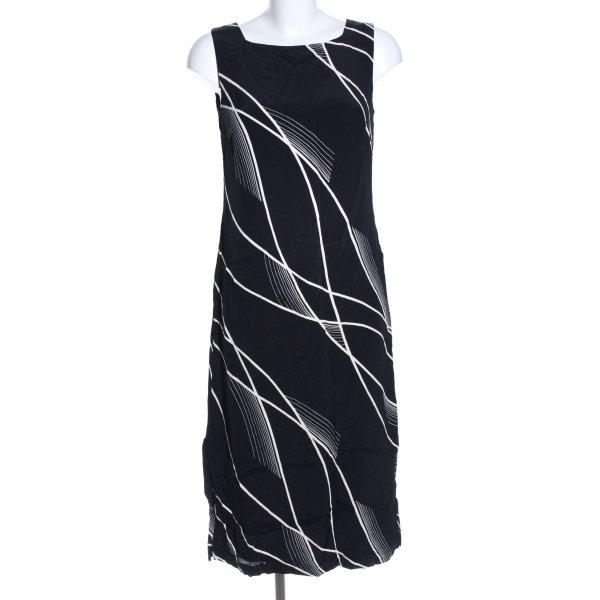 la rochelle Midikleid schwarz-weiß grafisches Muster Business-Look