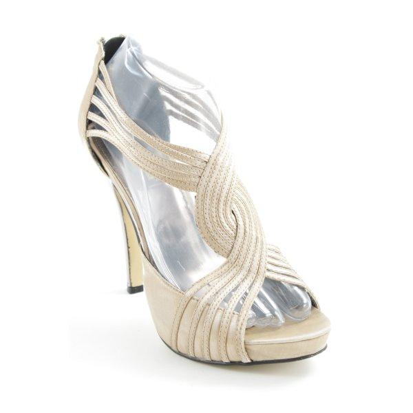 La Strada High Heel Sandaletten creme-silberfarben Party-Look