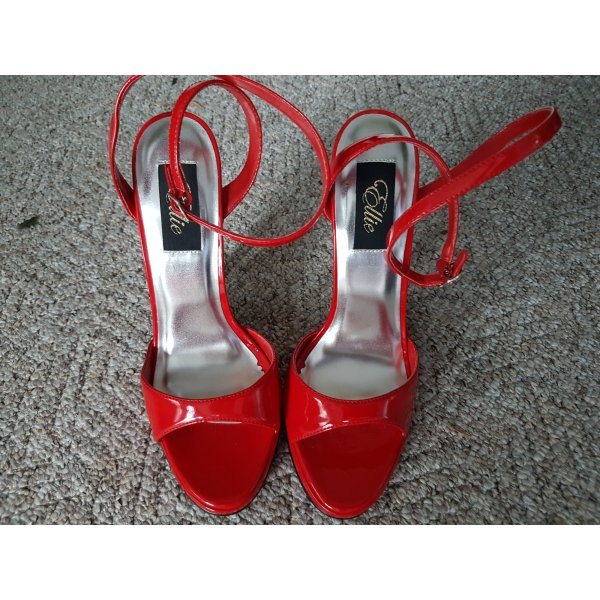 High Heel Sandal red leather
