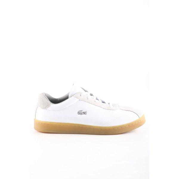 Lacoste Schnürsneaker weiß-hellgrau sportlicher Stil
